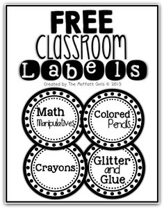 FREE Classroom Labels!