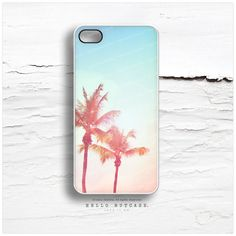 iPhone 5C Case Palm Tree iPhone 5s Case Teal Sky by HelloNutcase, $19.00