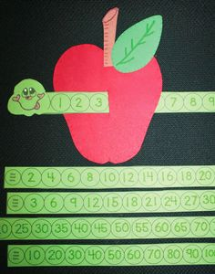 Classroom Freebies: Wormy Apple Number Craftivity