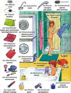 German - bathroom #deutsch #wortschatz #bad