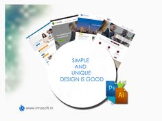 We design simple and unique websites to our client for their unique business.  #innasoft #webdesign
