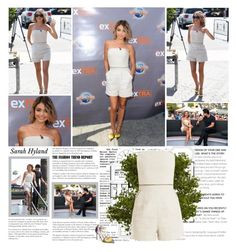 """""""Sarah Hyland."""" by albacampbell ❤ liked on Polyvore featuring Tamara Mellon and Jimmy Choo"""