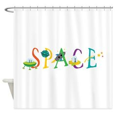 Space Shower Curtain on CafePress.com