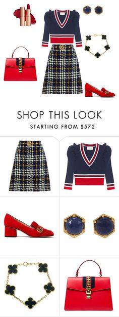 """""""Untitled #583"""" by tati-oliveira ❤ liked on Polyvore featuring Gucci, Cathy Waterman and Van Cleef & Arpels"""