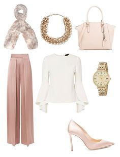 Classic - Evening outfit (Pink wide Leg pant and white top) Modern Hijab Fashion, Street Hijab Fashion, Muslim Fashion, Modest Outfits, Classy Outfits, Chic Outfits, Fashion Outfits, Hijab Fashionista, Mode Hijab