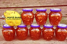 Dulceata de gutui (fara conservanti) Pickling Cucumbers, Mason Jar Wine Glass, Canning Recipes, Salsa, Deserts, Food And Drink, Vegan, Baking, Tableware