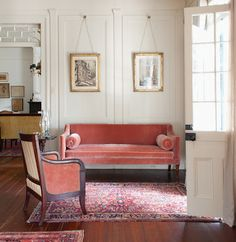 style court: Charm School. Southern foyer of Richard Gibbs & Randy Harleson's LeJeune House