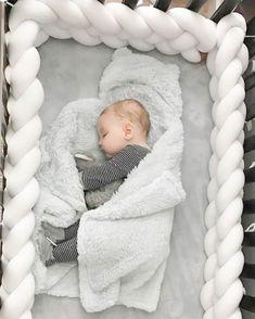 Double Braided Crib Bumper Knot Pillow Knot Cushion Bolster Crib Bedding Crib S Baby Crib Bumpers, Baby Bumper, Baby Crib Bedding, Baby Bedroom, Baby Room Decor, Baby Cribs, Crib Sheets, Baby In Crib, Crib Pillows