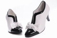 Coco Chanel. classic black and white shoes