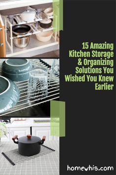 Cluttered kitchen? Running low on storage space? Then, here are 15+ small kitchen organization ideas that help you clear out the clutter and bring everything back in order again! From under the sink organization to countertop organizations ideas, you'll find the best way to utilize storage space, label and group your items together for a neat and organized kitchen! Visit the post now! #homewhis #kitchenorganization #undersinkorganization #declutter #cabinetorganization #fridgeorganization Kitchen Countertop Organization, Under Sink Organization, Sink Organizer, Spice Organization, Kitchen Storage, Magnetic Spice Jars, Fridge Shelves, Kitchen Trash Cans, Spice Bottles
