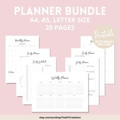 Printable Weekly Planner , Weekly Schedule, Weekly Agenda, Minimalist Planner Template, Planner Download, To Do List, Planner Bundle Printable Calendar Pages, Student Planner Printable, Planner Template, Printable Planner Stickers, Monthly Planner, Printables, Study Planner, Planner Pages, Design Your Own Card