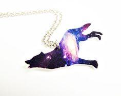 Wolf Galaxy Necklace