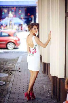 poland Folk Fashion, Womens Fashion, Polish Clothing, Backless Mini Dress, All About Fashion, Poland, Party Dress, White Dress, Folk Style