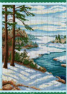 Río entre la nieve 1