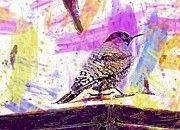 "New artwork for sale! - "" Flicker Bird Watercolor Art  by PixBreak Art "" - http://ift.tt/2uV05N1"