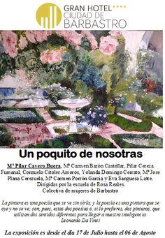 """Exposición """"Un poquito de Nosotras"""" Ven a CantineArte www.ghbarbastro.com"""