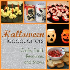Halloween Headquarters - Crafts, Food, Resources and Shows | Two Kids Cooking and More