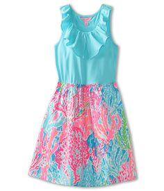 Lilly Pulitzer Kids Little Loranne Dress (Toddler/Little Kids/Big Kids) Turquoise/Lets Cha Cha - Zappos.com Free Shipping BOTH Ways