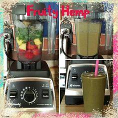 Fruity Hemp Smoothie  6 oz coconut water  5 fresh strawberries  2/3 cup fresh pineapple 1 1/2  cups frozen baby spinach  2 Tblsp hemp protein powder  1 scoop dreamsicle green superfood powder  1 tsp chia seeds  1/3 frozen banana 1/4 cup ice  #Vitamix #vegan #healthy #plantbased #dairyfree #fruit #nutiva #hempprotein #amazinggrass #superfood #coconutwater #feedfeed @thefeedfeed #godairyfree @godairyfree #chiaseeds #smoothie