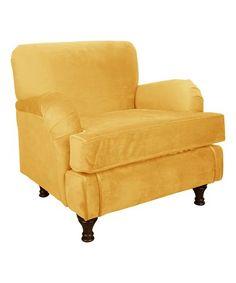 Look at this #zulilyfind! Canary Velvet Kids' Roll Armchair #zulilyfinds