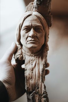 Alec LaCasse spends a lot of time searching for wood. Wood Carving Designs, Wood Carving Patterns, Wood Carving Art, Stone Carving, Wood Carving Faces, Indian Artwork, Wood Sculpture, Metal Sculptures, Abstract Sculpture