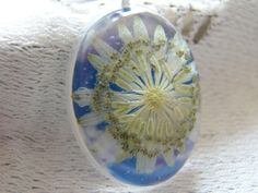 Real Astrantia Flower Necklace Resin Pendant by WishesontheWind, £20.00