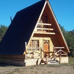 Are A-frame Cabin Kits Worth it? Building A Small House, Small House Plans, A Frame Cabin, A Frame House, Cozy Cabin, Cozy Cottage, Cabin Homes, Log Homes, Log Cabin Exterior