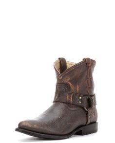 Women's Wyatt Harness Short Boot - Dark Brown