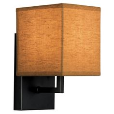 Maybe for our hallway? At Lowes. Portfolio�5-1/8-in W 1-Light Black Pocket Wall Sconce