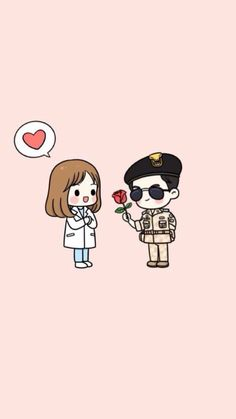 I didn't really get into the whole Descendants of the Sun craze a while back and I still am not getting into it. I stumbled across this fan art and thought it was cute and worthy of reposting. After all, I am a fan of cute and useless stuff. Couple Wallpaper, Love Wallpaper, Iphone Wallpaper, Med Student, W Two Worlds Art, Anime Couples, Cute Couples, Descendants Of The Sun Wallpaper, Medical Wallpaper