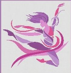 0 point de croix moderne danseuse ballerine- cross stitch modern ballerina