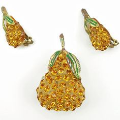 Vintage Austrian Forbidden Fruit Pear Set