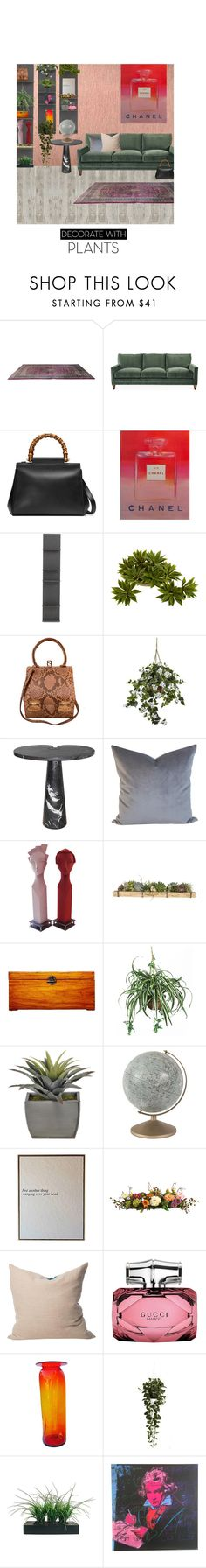"""""""Untitled #565"""" by adaylateabuckshort ❤ liked on Polyvore featuring interior, interiors, interior design, home, home decor, interior decorating, Sarreid, Gucci, Andy Warhol and Mitchell Gold + Bob Williams"""