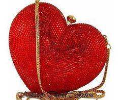 Happy Valentine's Day ~ Swarovski Crystal Handbags Evening Bags & Purses by Anthony David Purse Hanger, Vintage Purses, Beautiful Bags, I Love Heart, Evening Bags, Purses And Handbags, Heart Shapes, Swarovski Crystals, Valentines