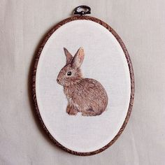 Woo! This hoop took me 12 hours, the fastest time yet! :) a cute little bunny :)…