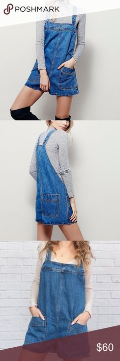 NWT Free People Shortall 0 New FP! Adorable denim romper. No blemishes. Originally $98. Lightweight, light wash denim. Can be styled in so many ways! Reasonable offers accepted 💕💕💕 Free People Pants Jumpsuits & Rompers