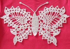 Delicate Crochet Butterfly: free pattern