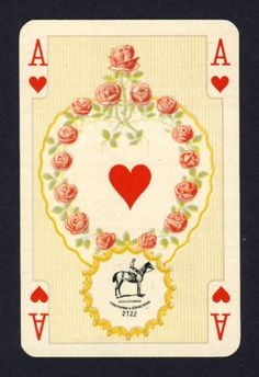 Vintage Playing Card ~ Ace of Hearts