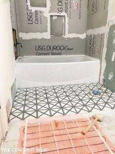 DIY Heated Floors; Bath Remodel; DIY Tile Install