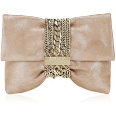 Jimmy Choo Chandra Black Shimmer Suede Clutch Bag found on Polyvore