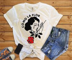 9e6ddae32 Como La Flor Tumblr Aesthetics Grunge T-Shirt - Mermaid Freak Aesthetic  Clothes, Aesthetic