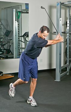 Single Leg Club Swings Golf Fitness  Exercise - Balance is key in the golf swing. This is a great dynamic balance drill you can do in the gym to help your golf game.