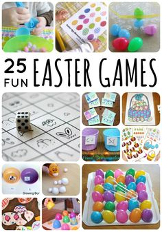 25 Fun Easter Games for toddlers and preschoolers on Lalymom