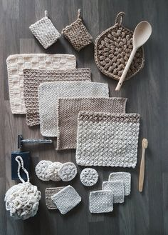 This crochet pattern from the Zero Waste Home Collection - Small balcony ideas . - This crochet pattern from the Zero Waste Home Collection – Small balcony ideas – – - Free Knitting, Knitting Patterns, Crochet Patterns, Knitting Ideas, Spool Knitting, Crochet Designs, Knitting Stitches, Crochet Diy, Crochet Gifts