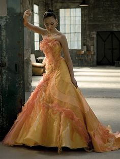 Wedding Dress Fantasy - Yellow Wedding Dress- Available in Every Color 2, $779.00 (http://www.weddingdressfantasy.com/yellow-wedding-dress-available-in-every-color-2/)