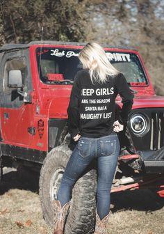 Jeep Girls are the reason Santa has a naughty list🎅🏼 Jeep Wrangler Yj, Jeep Cj7, Jeep Wrangler Unlimited, Jeep Baby, Trucks And Girls, Car Girls, Big Trucks, Volkswagen, Badass Jeep