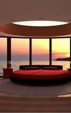 One of the bedrooms overlooks the ocean. This one is mine.