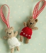We at AllFreeChristmasCrafts have put together these 11 homemade ornament knitting projects for your inspiration. From mini mittens to knit animals to mini stockings and more, you are sure to find a small knitting project you love.