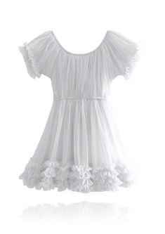Vintage Dressing Ruffle Vest Off White | Botique Fashion