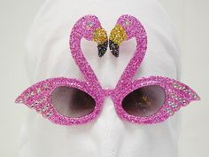 sparkly - pink - flamingos! when regular sunglasses just won't do!